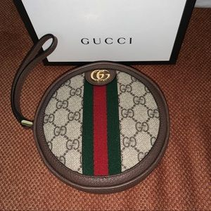 Gucci Ophidia Round Wrist Wallet